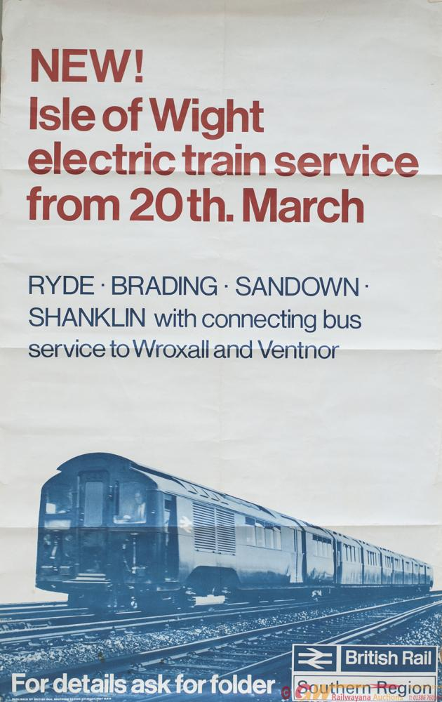 Poster BR(S) NEW ISLE OF WIGHT ELECTRIC TRAIN