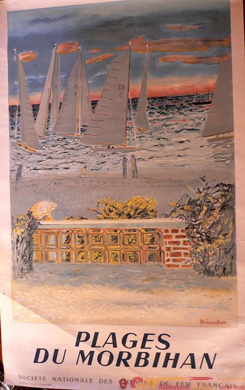 Poster, French Railways, 'Plages Du Morbihan, D/R.