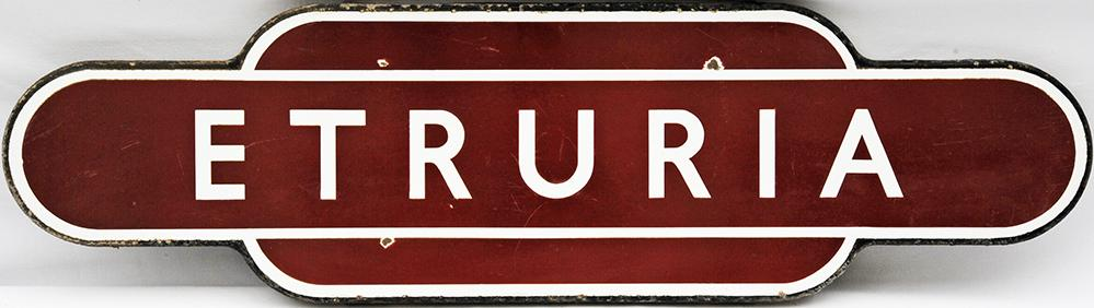 Totem BR(M) ETRURIA, F/F. Ex North Staffs Railway