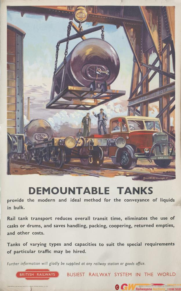 Poster BR(M) DEMOUNTABLE TANKS By Kenneth