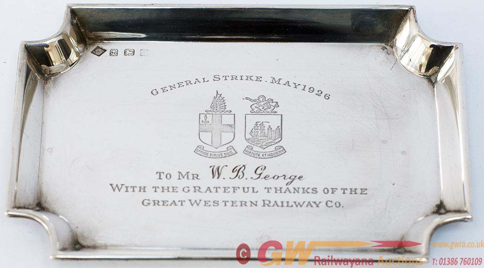 GWR Solid Silver Miniature Tray With Full Great