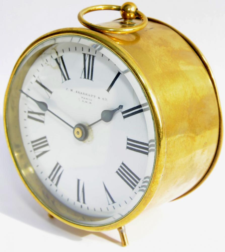 GWR Brass Cased Drum Clock, 4 Diameter. Original