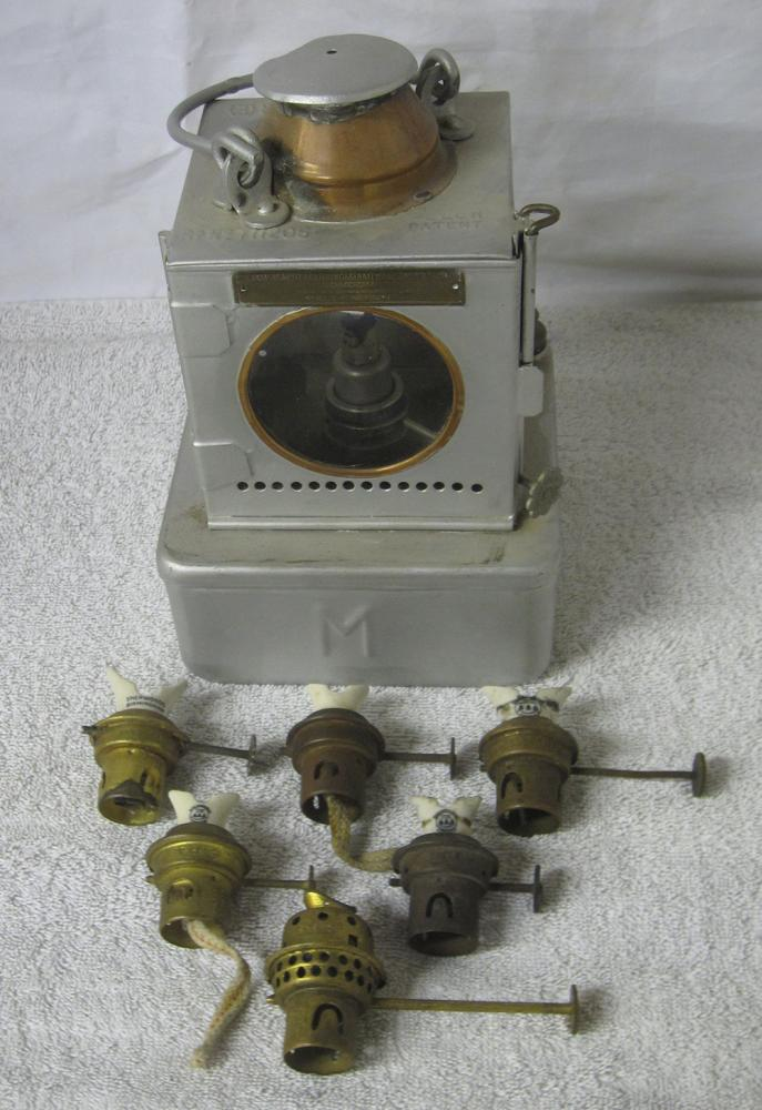 A Lot Containing A BR Welch Patent Signal Lamp