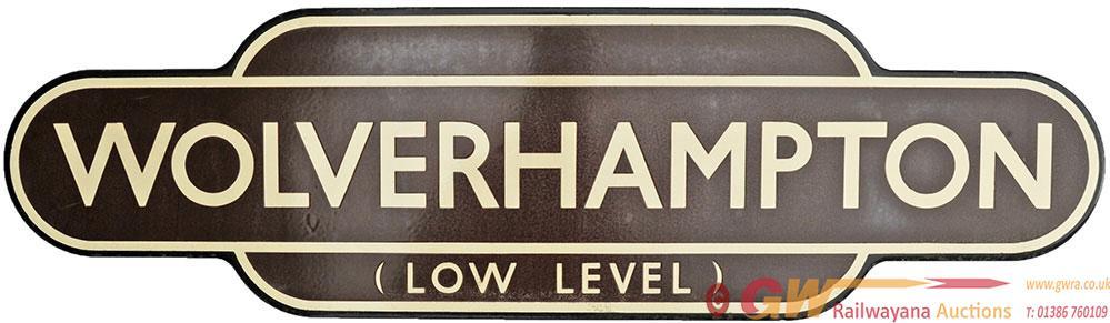 Totem BR(W) WOLVERHAMPTON LOW LEVEL, F/F. Ex GWR