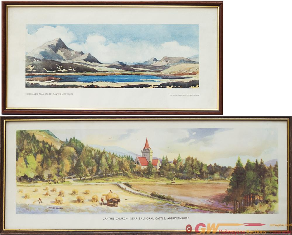 A Pair Of Carriage Prints Both From The BR