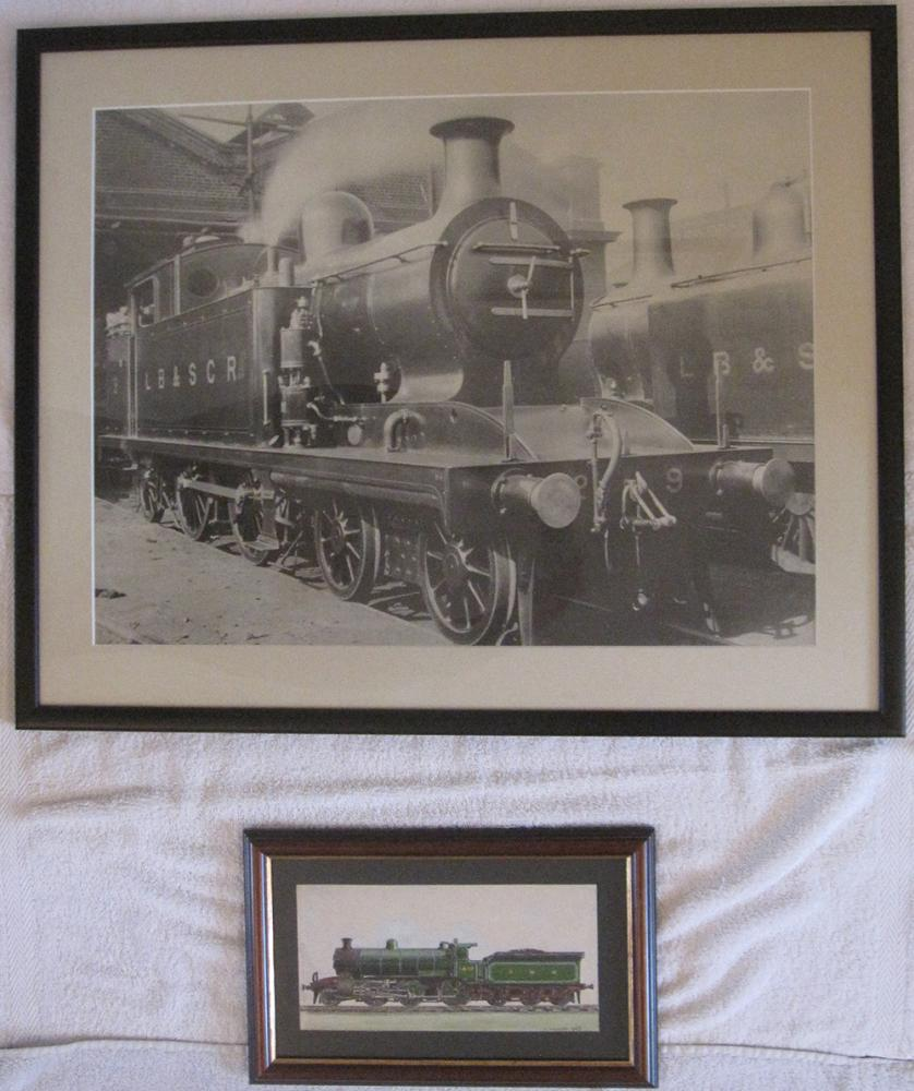 Framed And Glazed Photo Of LBSCR Tank Loco