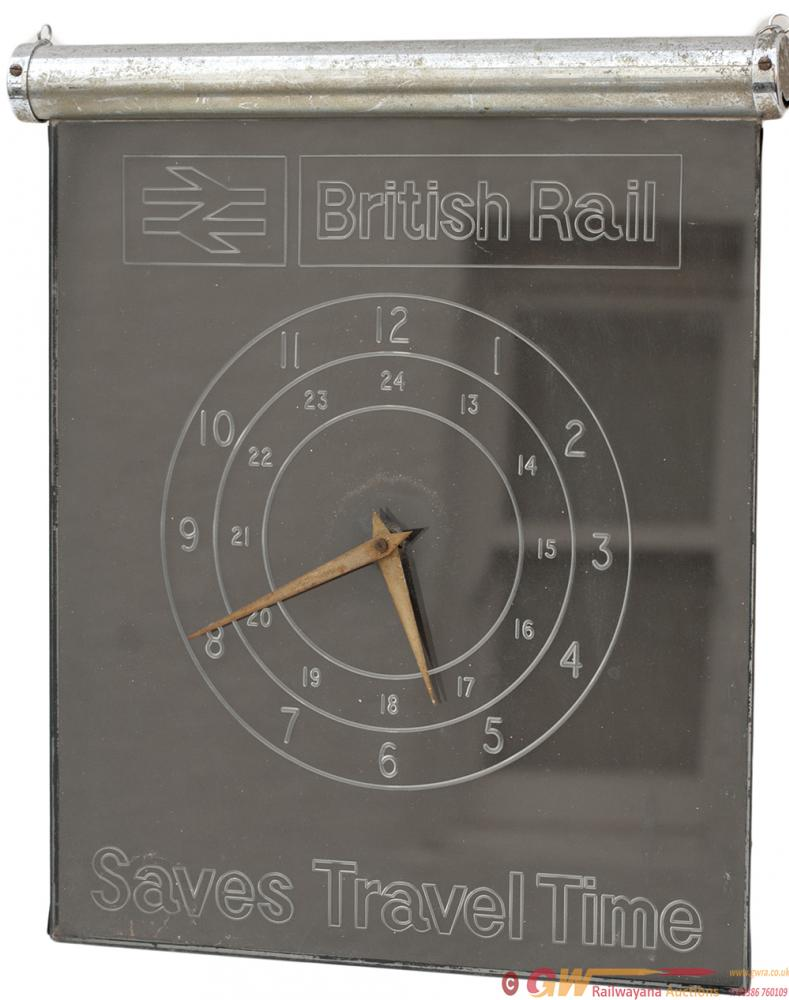 British Railways Travel Agents Clock BRITISH
