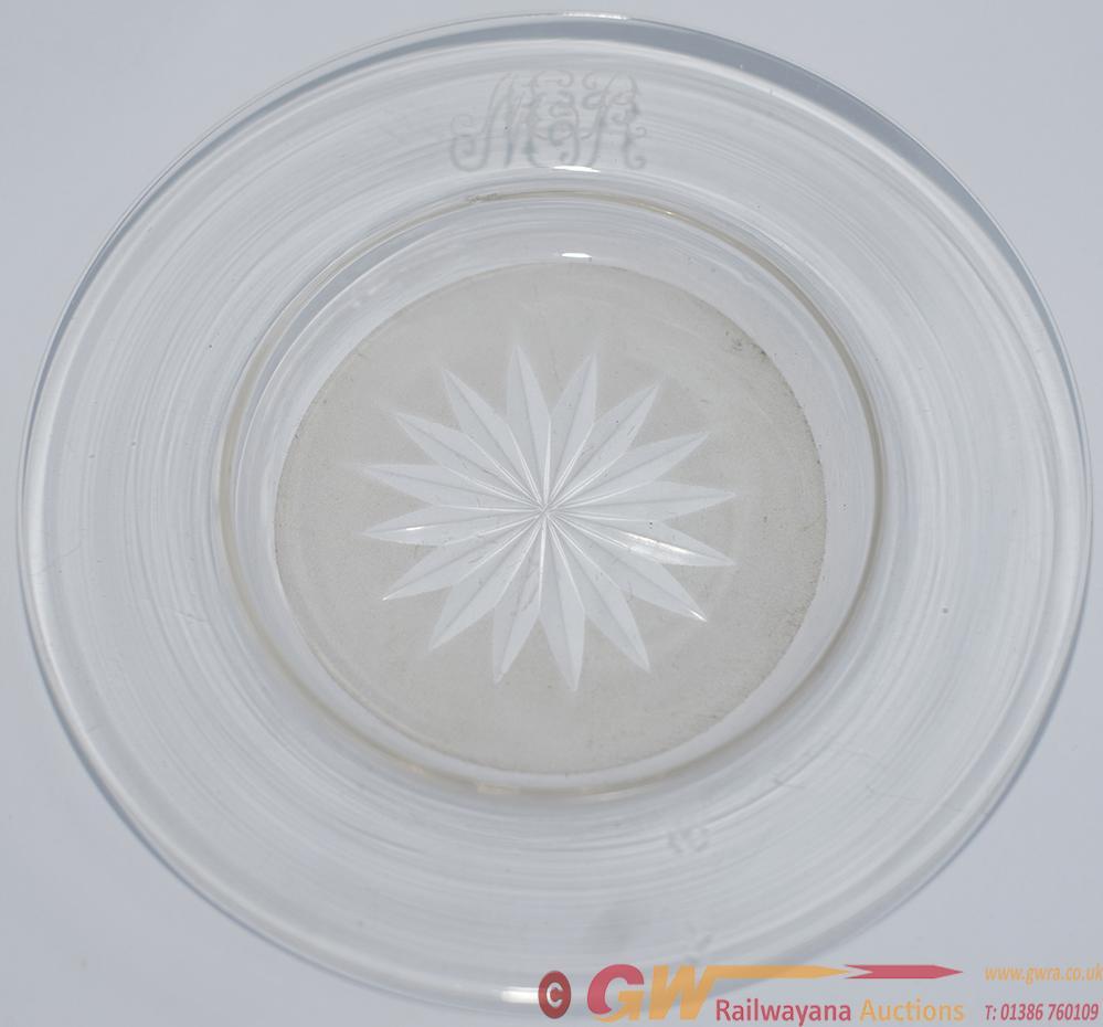 North Eastern Railway Cut Glass Circular Bonbon