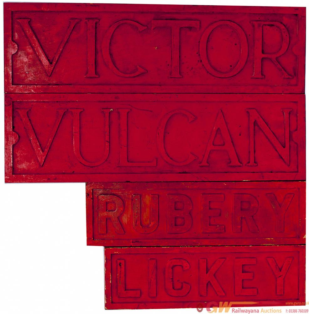Locomotive Wooden Nameplate Patterns, All Ex