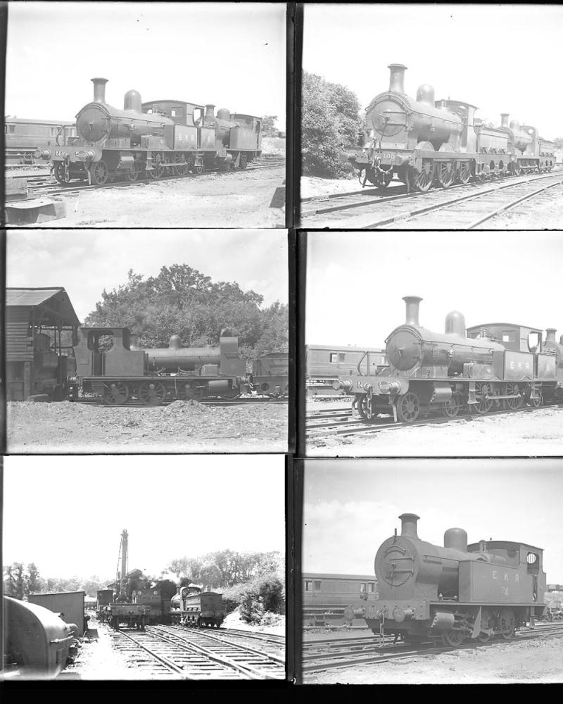 Qty 12 Large Format Glass Negatives East Kent Rly