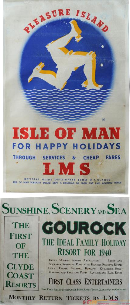 LMS Posters, A Pair Comprising  'Pleasure Island -