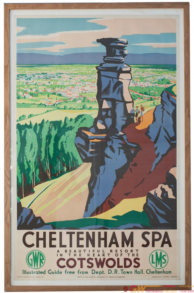 Poster GWR & LMS Cheltenham Spa Poster  GWR & LMS