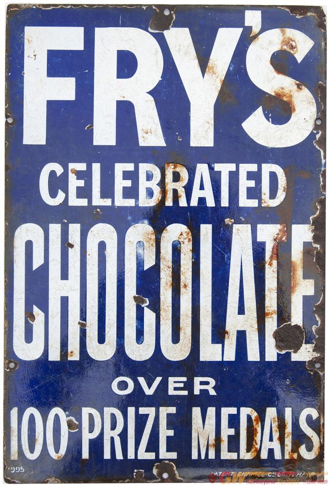 Advertising Enamel FRY'S CELEBRATED CHOCOLATES