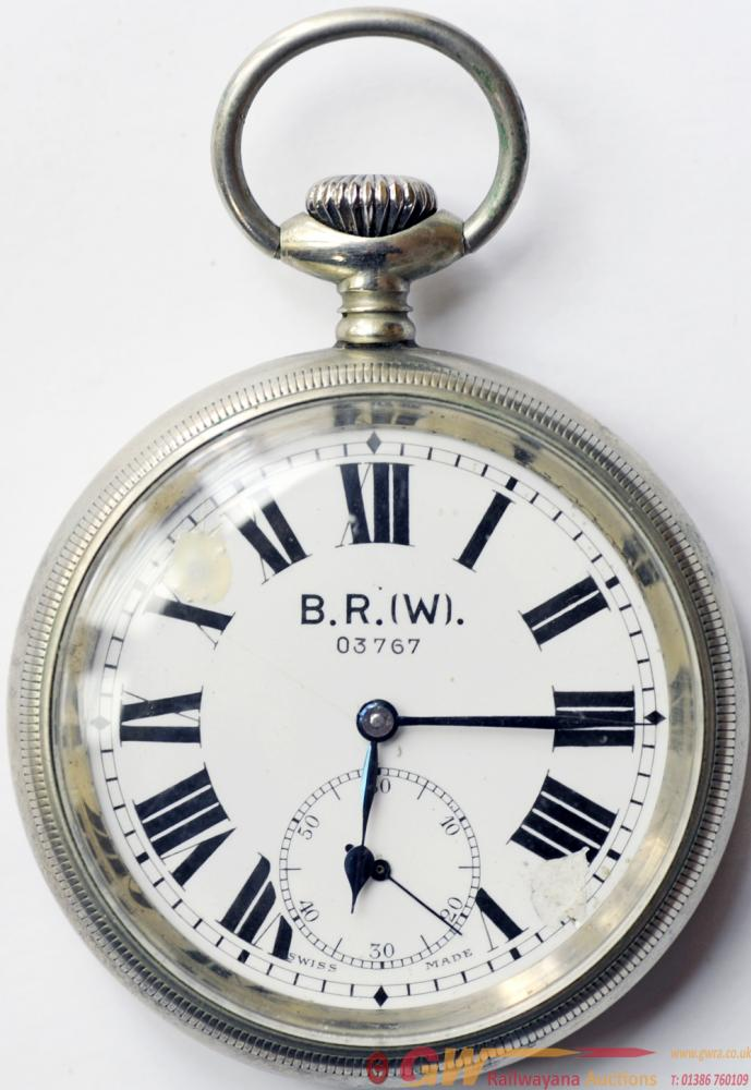BR(W) Pocketwatch  With Initials On Face And The