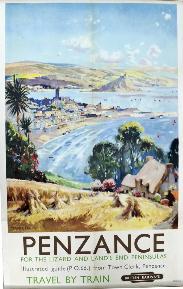 BR Poster, 'Penzance - For The Lizard And Land's