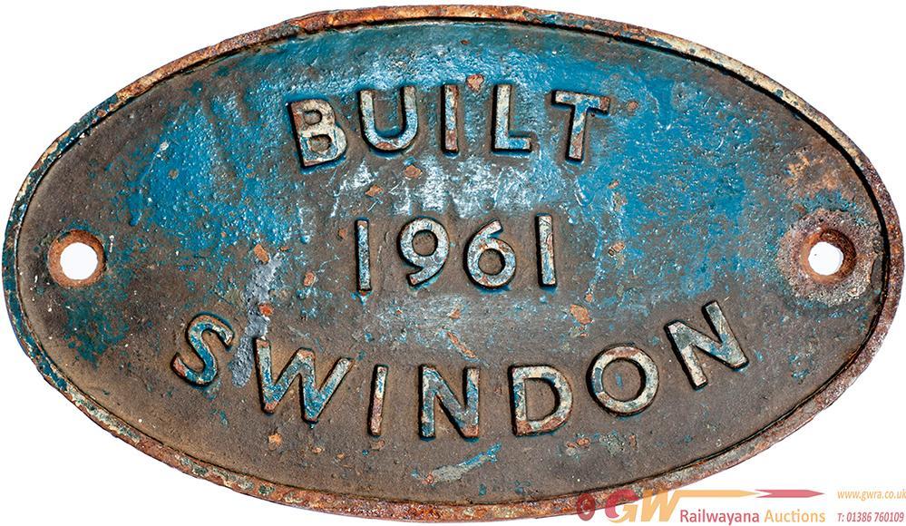 Worksplate Cast Iron BUILT 1961 SWINDON In Ex Loco