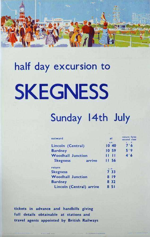 BR Poster 'Half Day Excursions To Skegness -