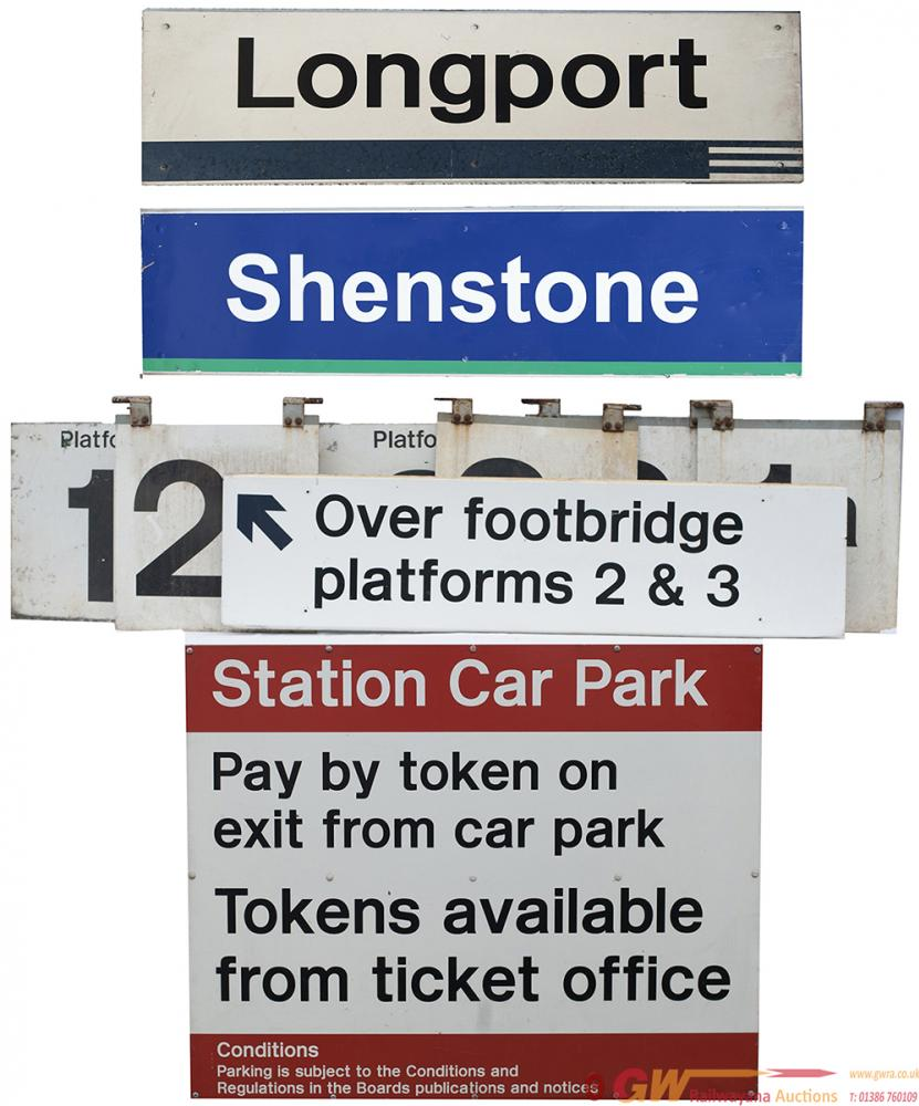 Modern Image Station Signs To Include: LONGPORT