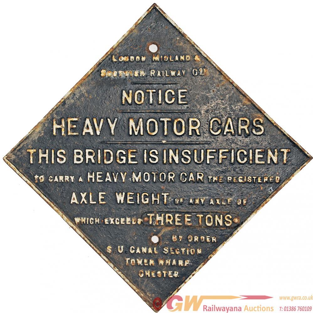 LMS Fully Titled Bridge Restriction Sign, Square