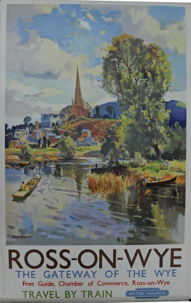 BR Poster, 'Ross-On-Wye - The Gateway Of The Wye',