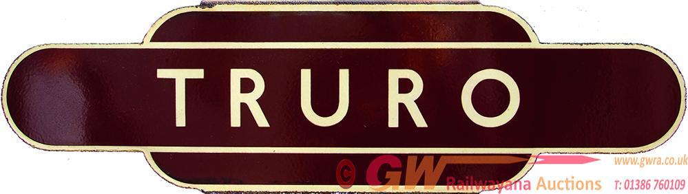 Totem, BR(W) TRURO, H/F. Ex GWR Station, Capital