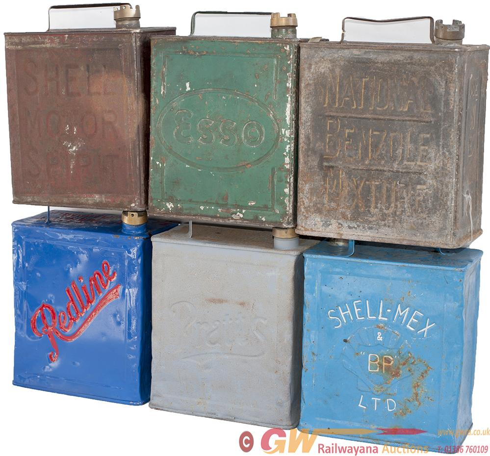 Motoring Steel Petrol Cans With Brass Caps x6 To