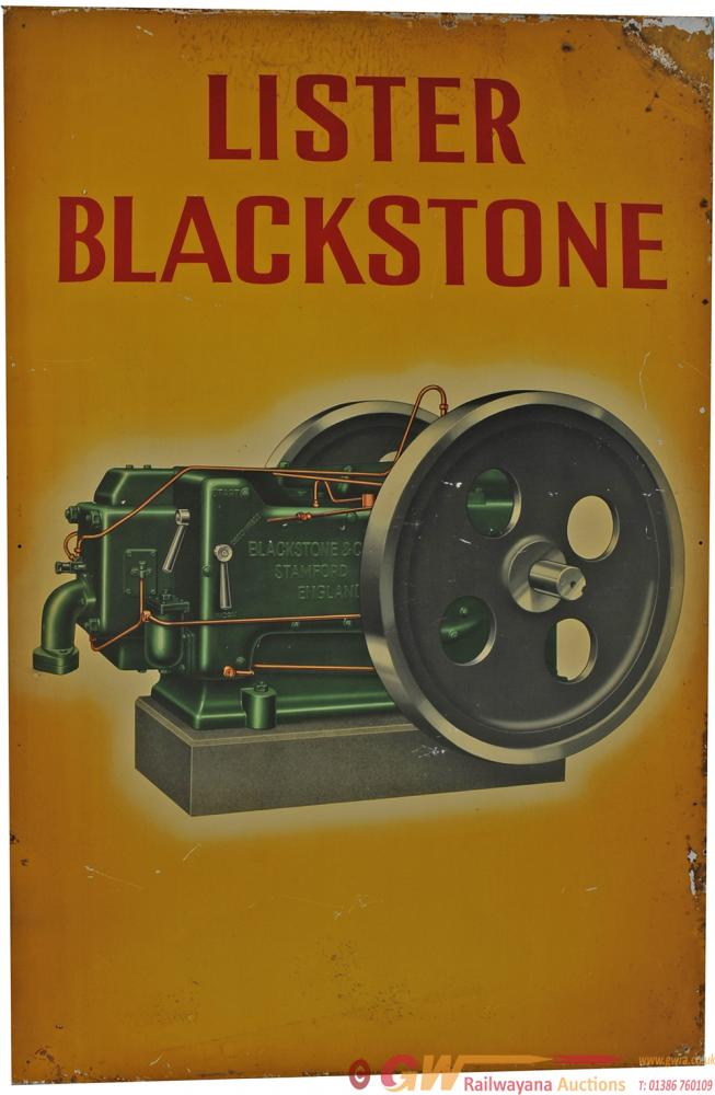 Tinplate Advertising Sign 'Lister Blackstone', 30