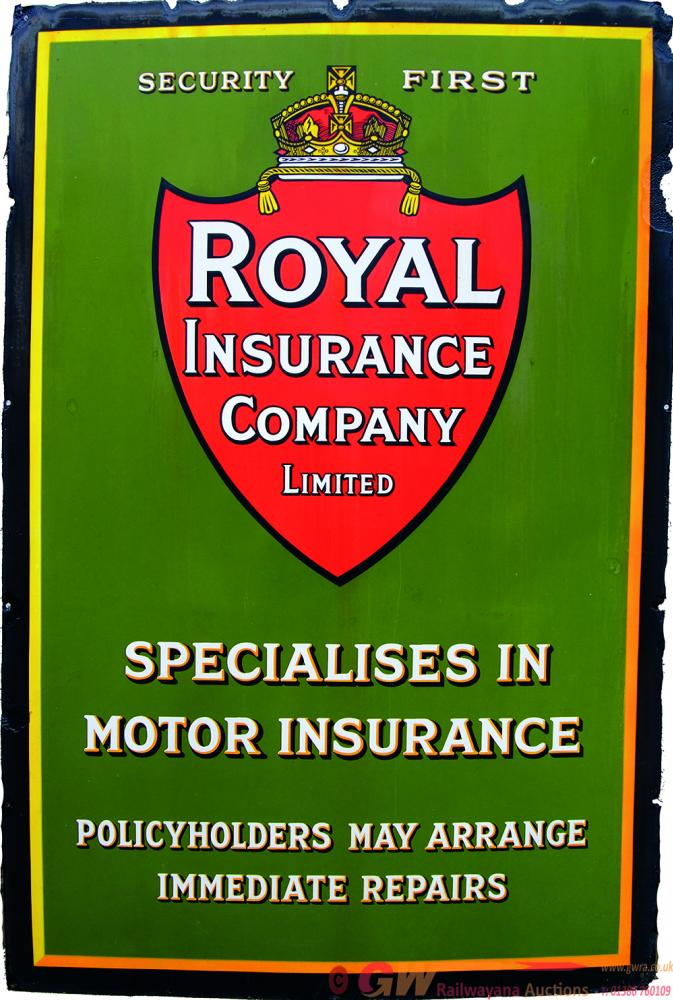 Advertising Enamel Sign, Security First - Royal