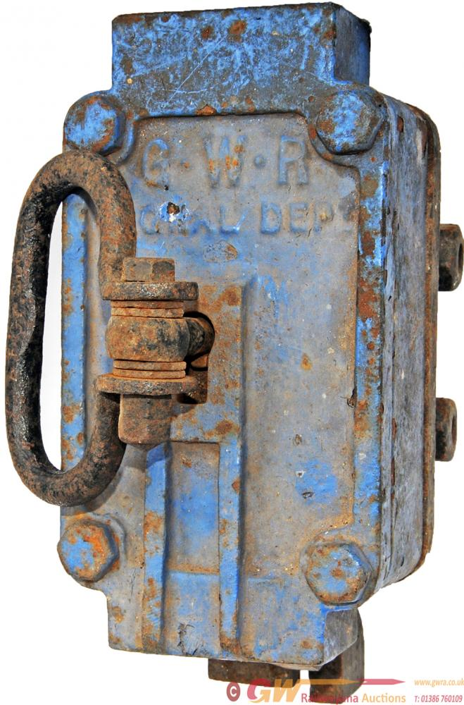 GWR Ground Frame Lock With Key Engraved 'A.E.C.