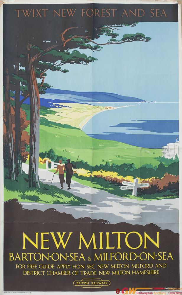 Poster BR(S) NEW MILTON BARTON-ON-SEA