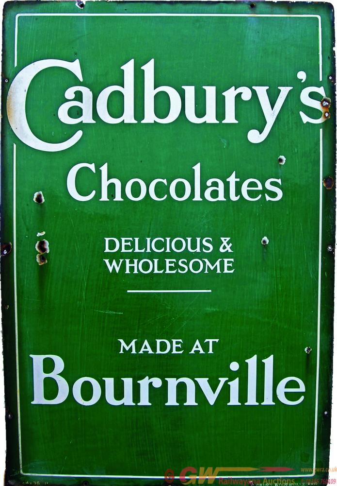 Enamel Advertising Sign Cadbury's Chocolates
