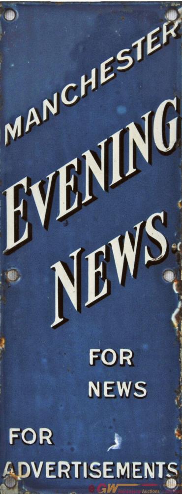 Advertising Enamel 'Manchester Evening News'