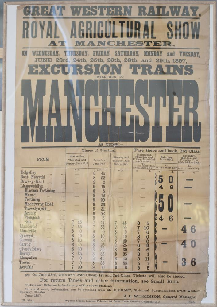 GWR Framed And Glazed Notice Advertising THE ROYAL