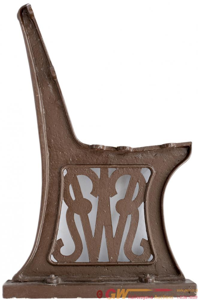 GWR Cast Iron Platform Seat Ends x2, Early Script