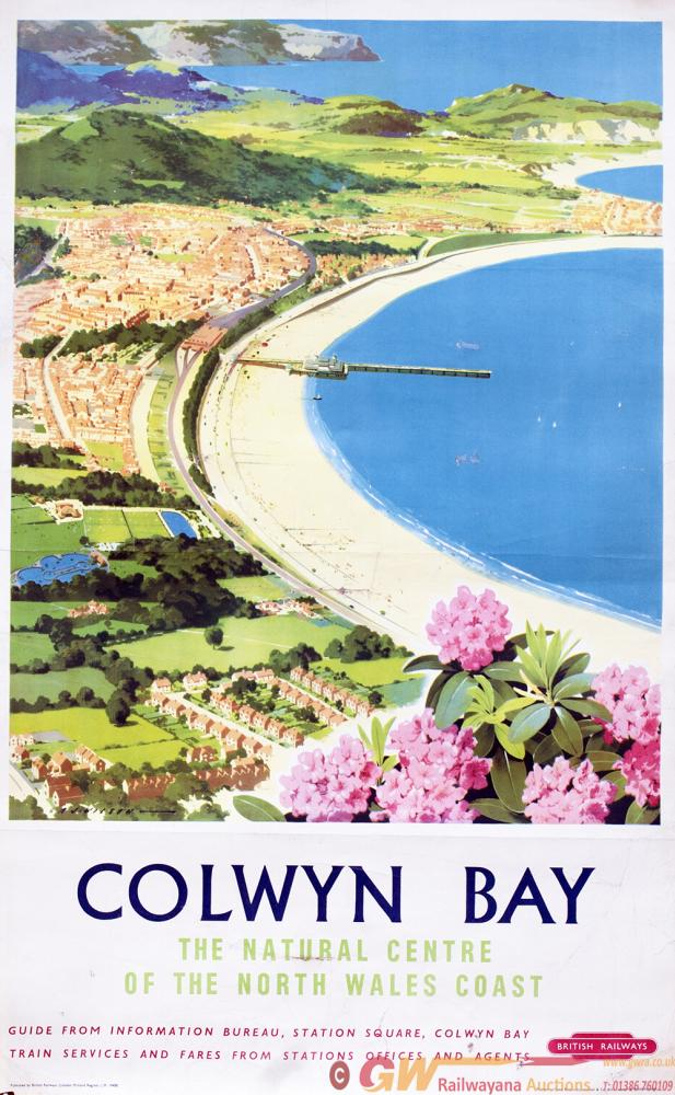 Poster BR COLWYN BAY By A.J. Wilson. Double Royal