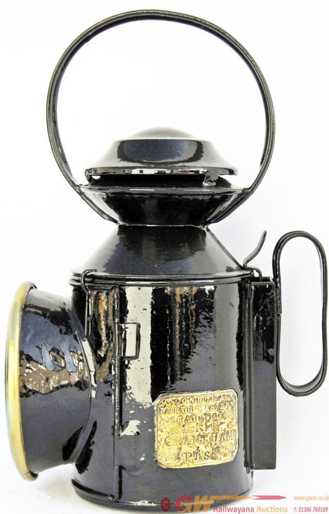 LNER Saucer-Top Handlamp Brass Plated London &