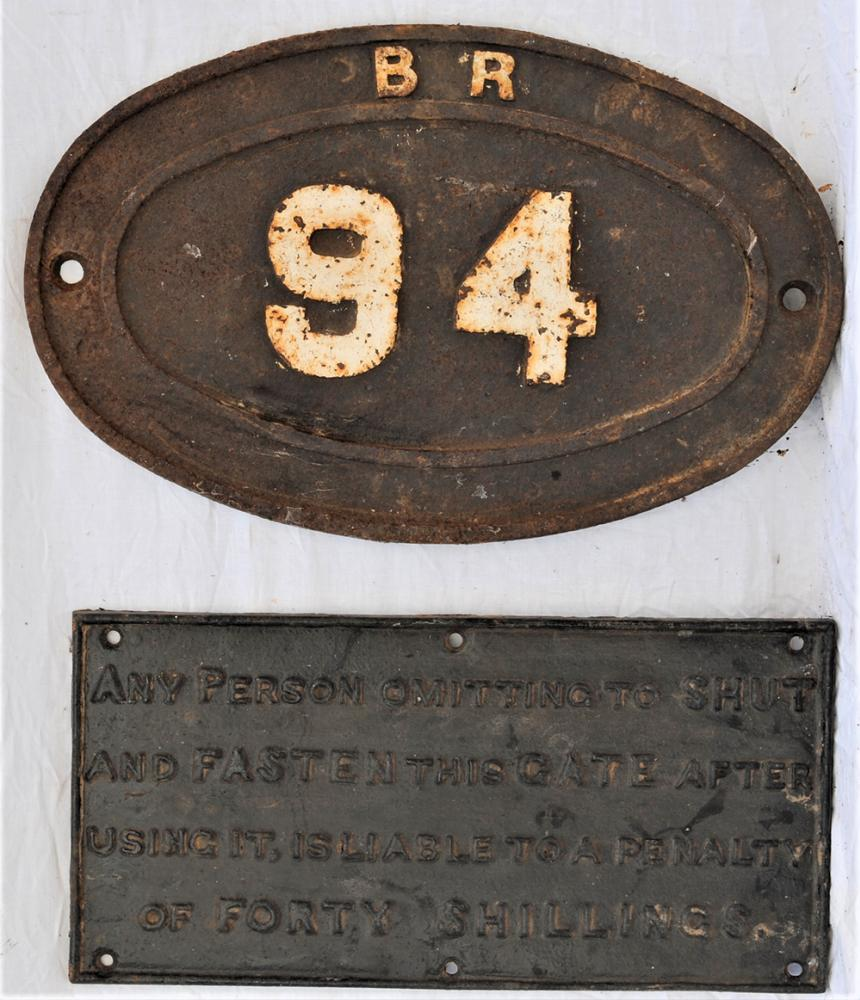 BR Bridge Plate 94 Together With A Small Cast Iron