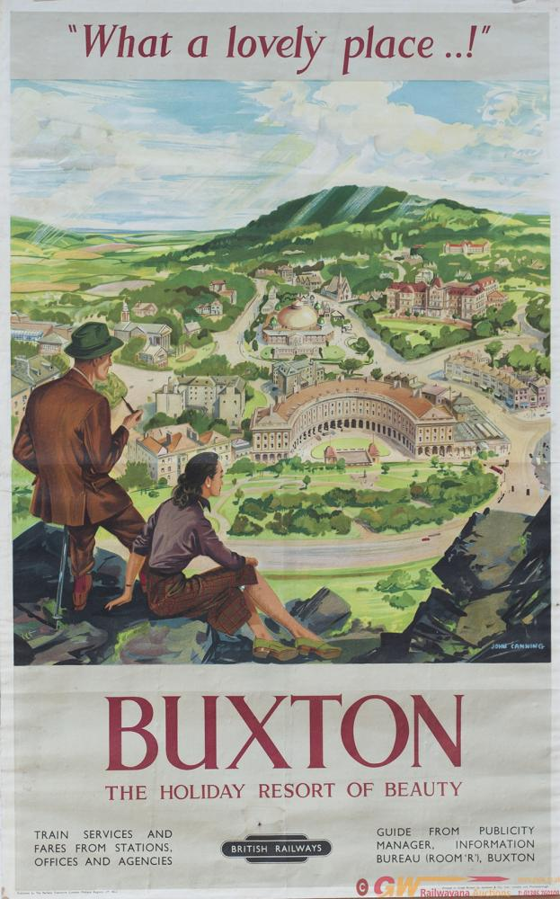 Poster BR(M) BUXTON THE HOLIDAY RESORT OF BEAUTY