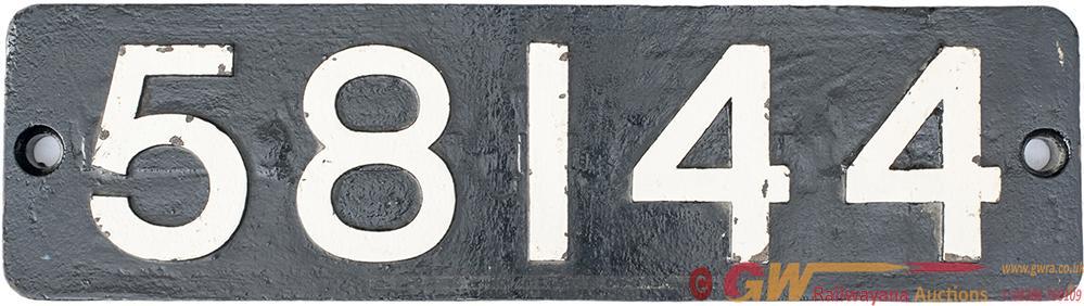 Smokebox Numberplate 58144 Ex MR Johnson 2f-1