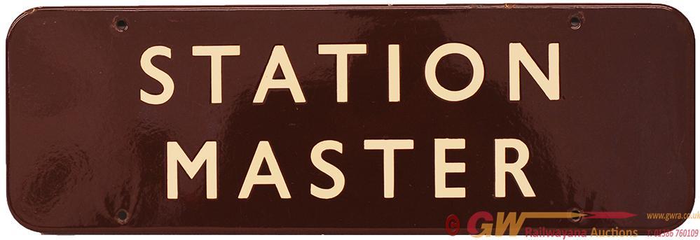 BR(W) Enamel Doorplate STATION MASTER F/F.