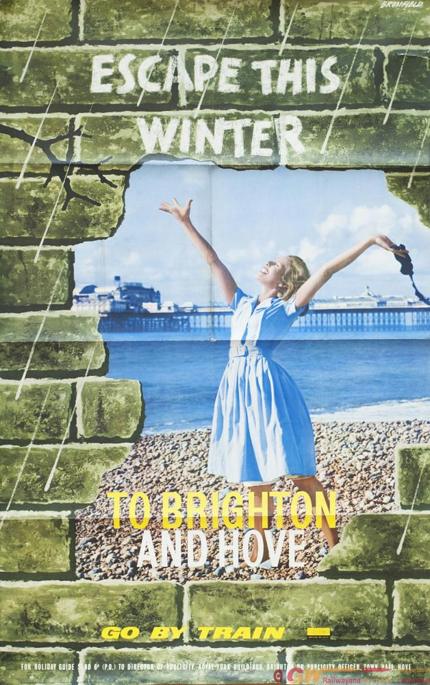 Poster BR(S) ESCAPE THIS WINTER TO BRIGHTON AND