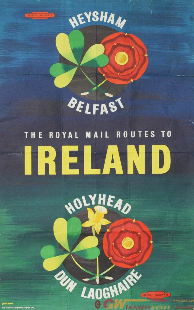 Poster 'The Royal Mail Route To Ireland - Heysham