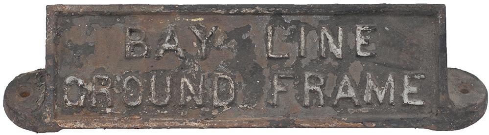 GWR Cast Iron Ground Frame Plate BAY LINE GROUND