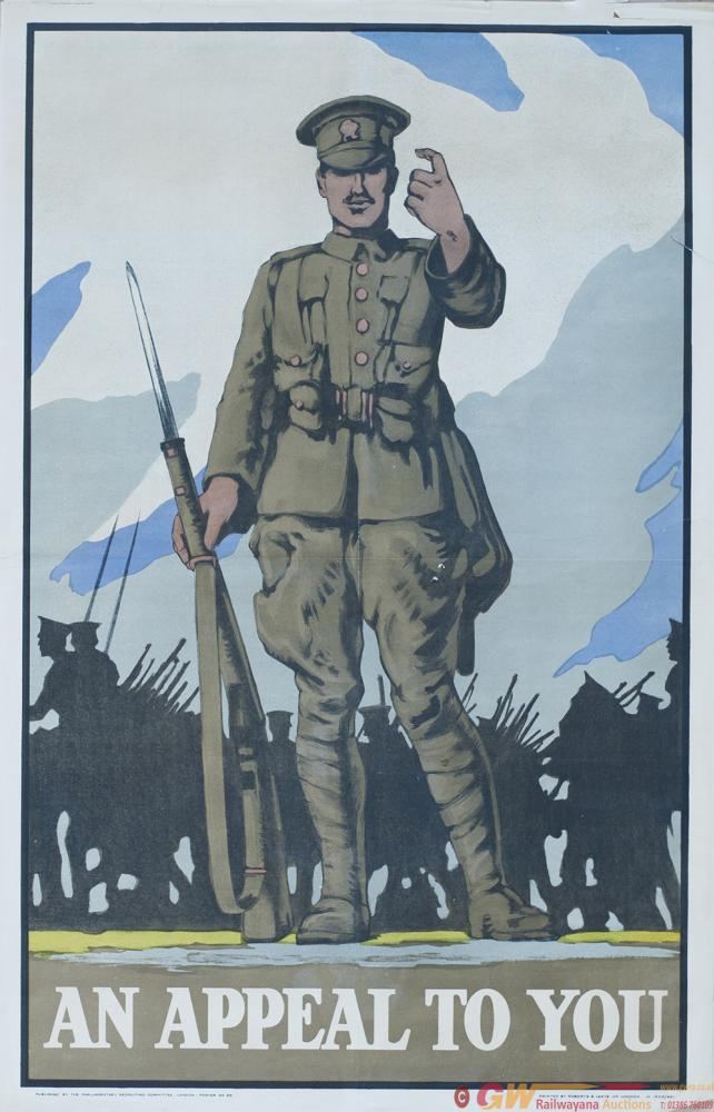 World War I Poster AN APPEAL TO YOU Measuring 25in