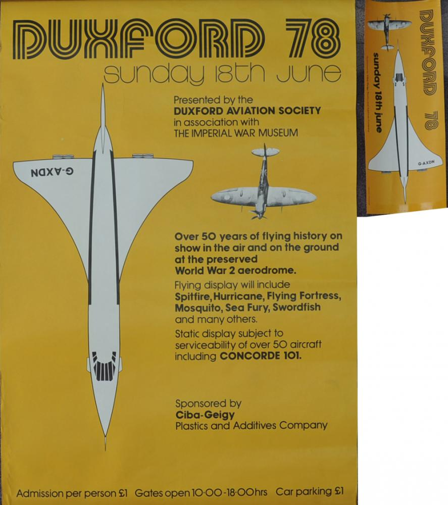 Poster 'Duxford Airshow Sunday 18th June 1978',