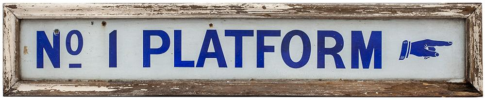 GWR Platform Enamel Sign no1 PLATFORM With