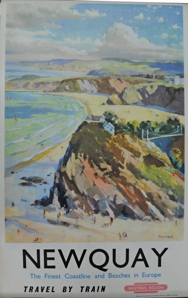 BR Poster, 'Newquay - The Finest Coast Line And
