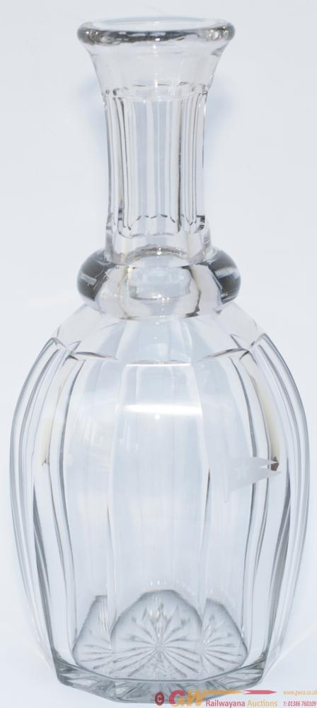 White Star Line Cut Glass Lead Crystal Wine Carafe