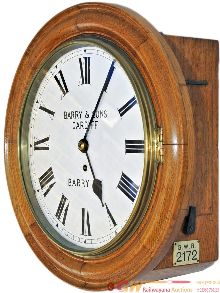Barry Railway 12in Oak Cased English Fusee Railway
