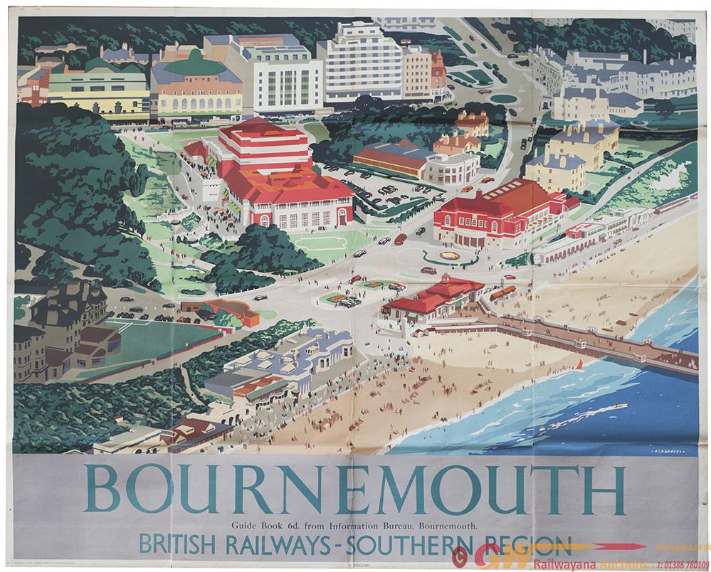 Poster BR(S) BOURNEMOUTH By V. L. Danvers. Quad